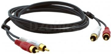 Кабель Kramer Electronics C-2RAM/2RAM-2 стерео аудио 2RCA-2RCA (вилки-вилки) 0,6 метра