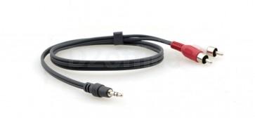 Аудиокабель Kramer C-A35M/2RAM-50 стерео аудио 3.5mm Audio на 2 RCA (Вилка - Вилка), 15.2 метра