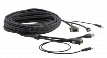 Кабель Kramer C-GMAC/GMAC-10 Micro, VGA (Вилка) + аудио + RJ-45 на VGA (Вилка) + аудио + RJ-45 3.0 метра