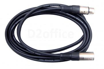 Аудиокабель  Kramer Electronics C-XLQM/XLQF- 1,5   с разъемами XLR (Вилка - Розетка) 0.5 метра