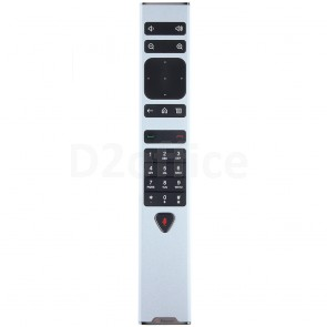 RealPresence Group Series Remote Control for use with Group Series codecs. Includes 1 USB rechargeable battery
