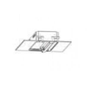 Потолочный светильник с одним одноламповым поворотным блоком, в панели с размещением по центру. Размер: 595 x 595 x 180 мм.