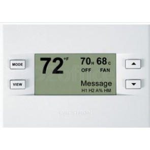Crestron Heating/Cooling and Humidity Thermostat, White