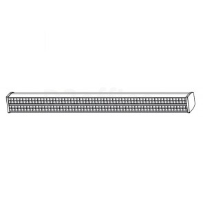 Двойной светодиодный светильник для ВКС. Размер: 914.4 x 43.44 x 88.9 мм.