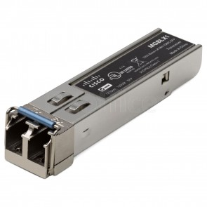 1000BASE-LX SFP transceiver for single-mode fiber, 1310 nm wavelength, supports up to 10 km