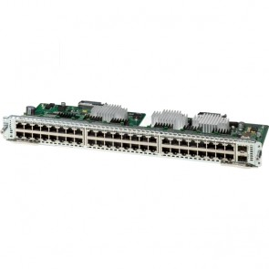 Cisco 48 10/100/1000 Ethernet port, double-wide Layer 2 and Layer 3 enhanced EtherSwitch service module, with PoE support
